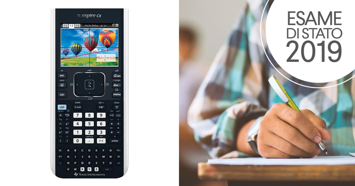La simulazione di seconda prova scritta di Matematica e Fisica del 2 aprile 2019 con l'uso della calcolatrice grafica TI Nspire CX (Texas Instruments)