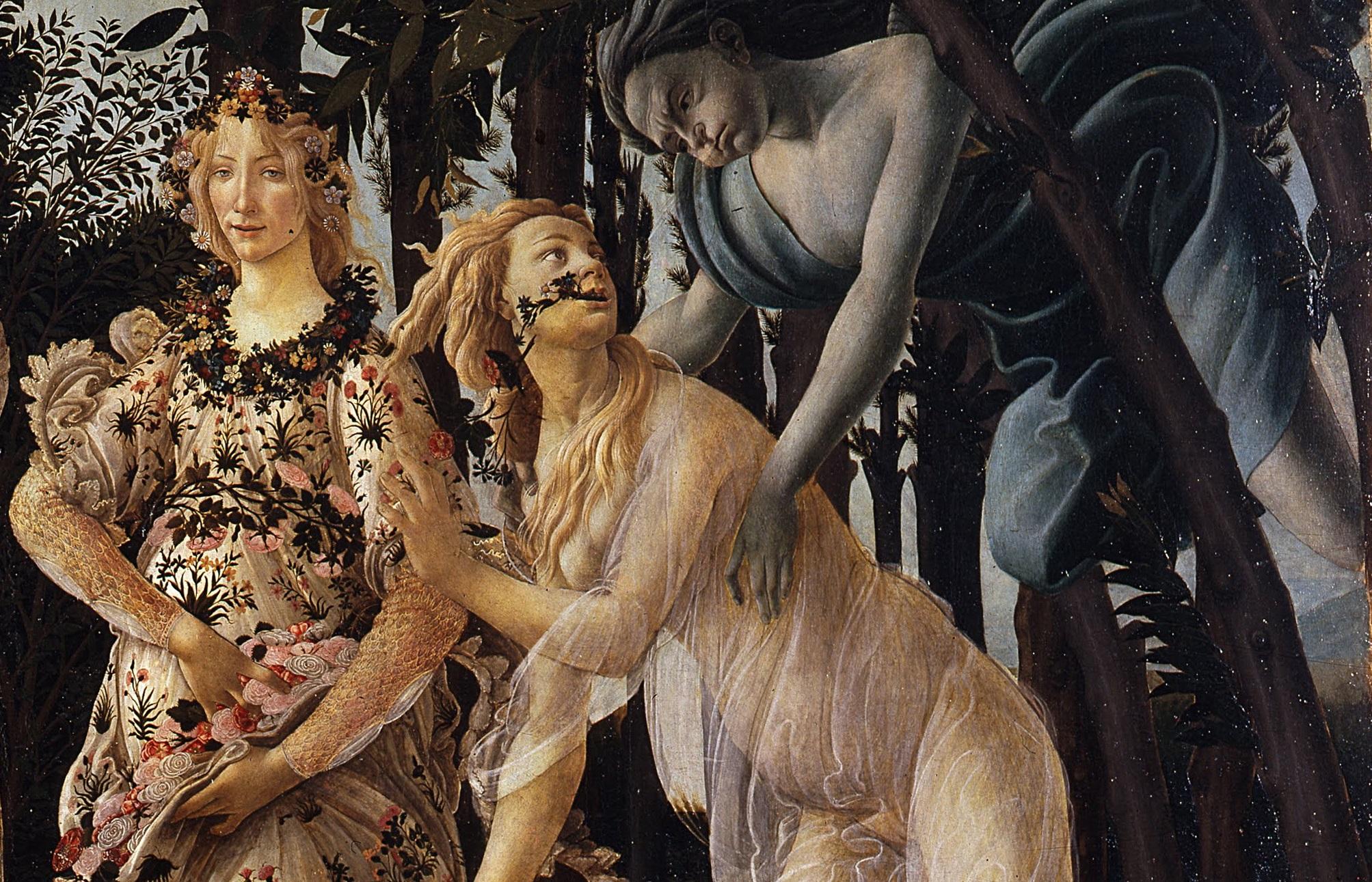 Piante e fiori nella Primavera  di Botticelli