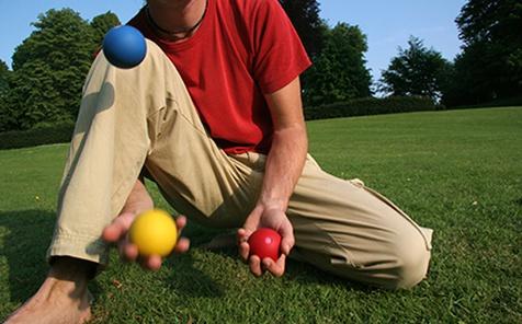 Giocoleria con le palline